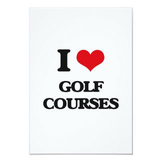 I love Golf Courses 3.5x5 Paper Invitation Card