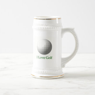 I Love Golf Design Beer Stein