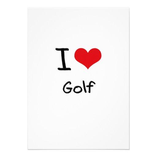I Love Golf Invites