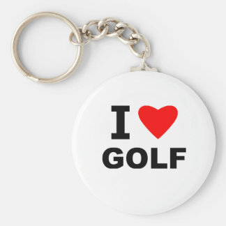 I Love Golf Keychain