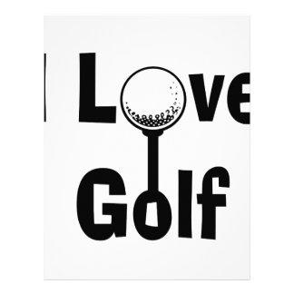 I Love Golf Letterhead