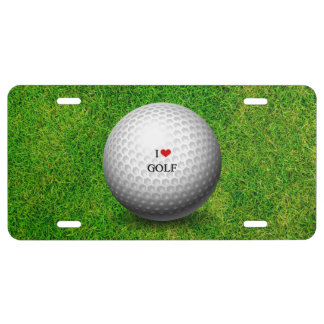 I Love Golf License Plate