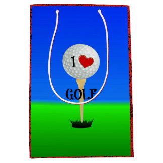 I Love Golf Medium Gift Bag