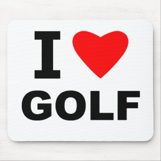 I Love Golf Mouse Pad