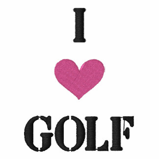"""I LOVE GOLF"" SHIRT - Customized EMBROIDERY"