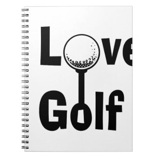 I Love Golf Spiral Notebook