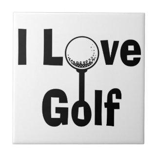 I Love Golf Tile