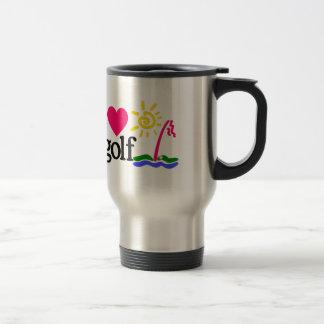 I LOVE GOlF Travel Mug
