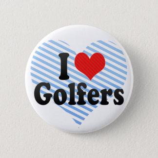 I Love Golfers 2 Inch Round Button