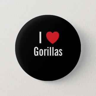I love Gorillas 2 Inch Round Button