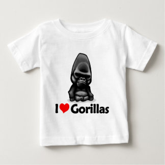 I Love Gorillas Baby T-Shirt