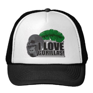 I love gorillas trucker hat