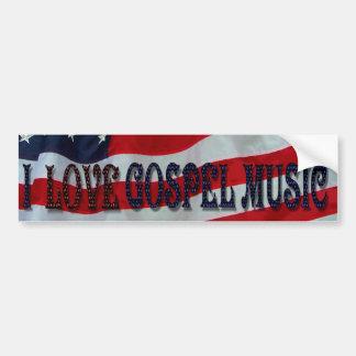 I LOVE GOSPEL MUSIC-BUMPER STICKER CAR BUMPER STICKER