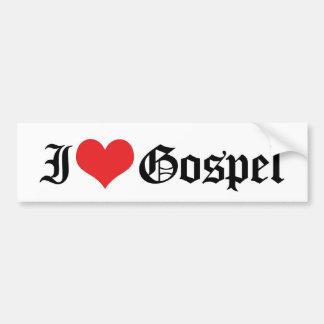 I Love Gospel Music Bumper Sticker