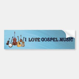 I LOVE GOSPEL MUSIC-BUMPER STICKER BUMPER STICKER
