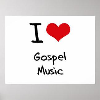 I Love Gospel Music Posters