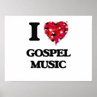 I Love Gospel Music Poster