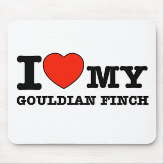 I Love gouldian finch Mouse Pad