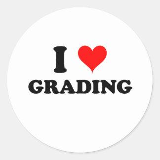 I Love Grading Classic Round Sticker