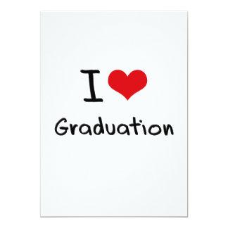 I Love Graduation Personalized Announcements
