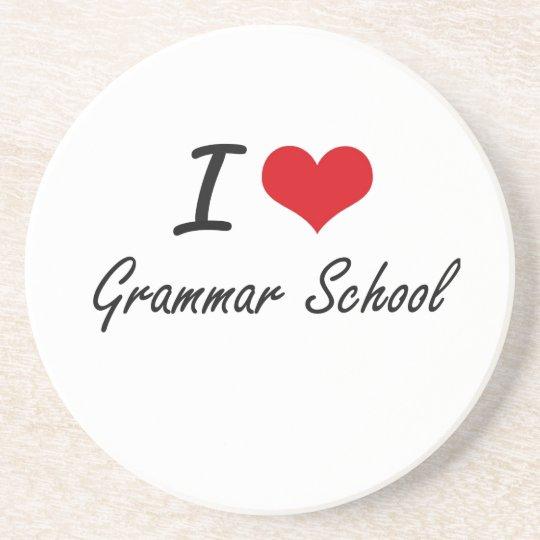 I love Grammar School Coaster