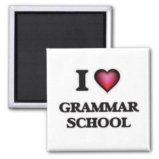 I love Grammar School Square Magnet