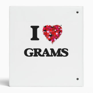 I Love Grams Binders