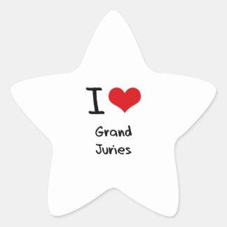 I Love Grand Juries Star Sticker