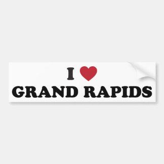 I Love Grand Rapids Michigan Bumper Sticker