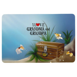 I Love Grandma and Grandpa Floor Mat