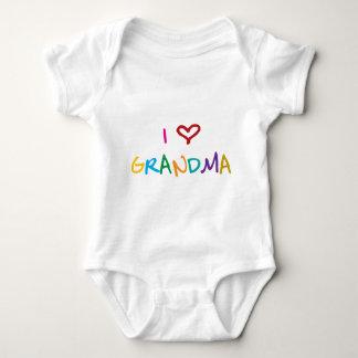 I Love GrandMa Baby Bodysuit