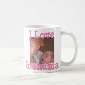 I Love Grandma Personalized Coffee Mug