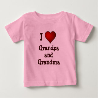I Love grandpa and grandma infant/toddler shirt