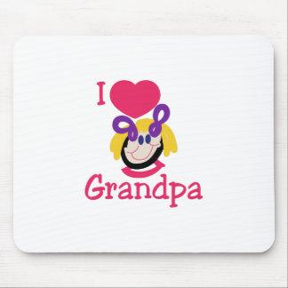I Love Grandpa Mouse Pad
