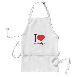 i love grandpa standard apron