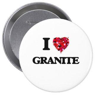I Love Granite 4 Inch Round Button