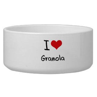 I Love Granola Dog Bowl