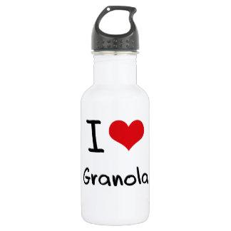 I Love Granola 18oz Water Bottle