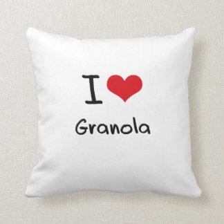I Love Granola Throw Pillows