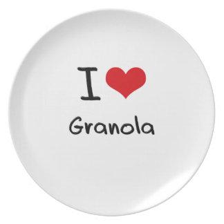 I Love Granola Dinner Plate