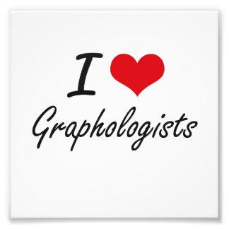 I love Graphologists Photographic Print