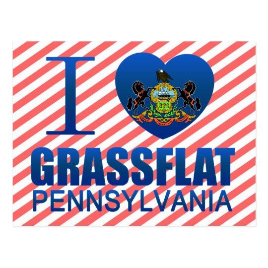 I Love Grassflat, PA Postcard