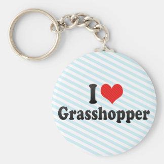 I Love Grasshopper Keychain