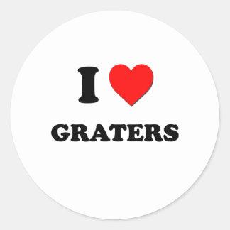 I Love Graters Sticker