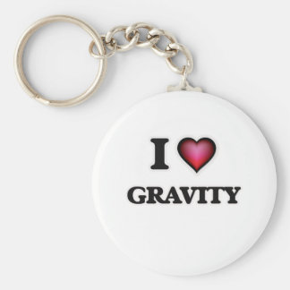 I love Gravity Basic Round Button Keychain