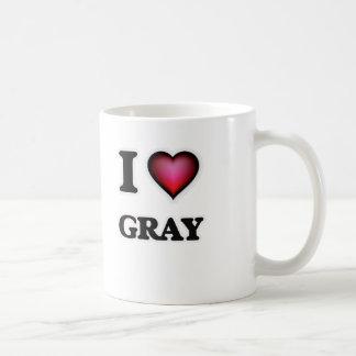 I love Gray Coffee Mug