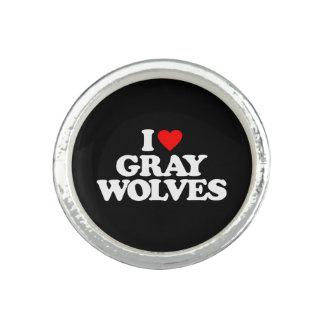 I LOVE GRAY WOLVES RING