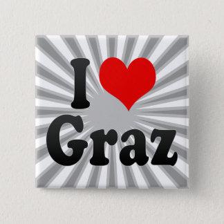 I Love Graz, Austria 2 Inch Square Button