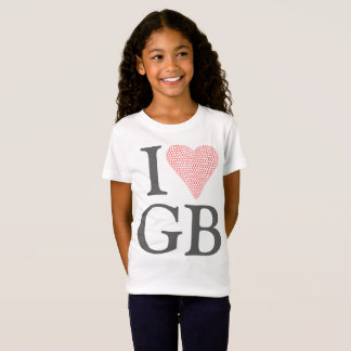 I Love Great Britian Girls T-shirt