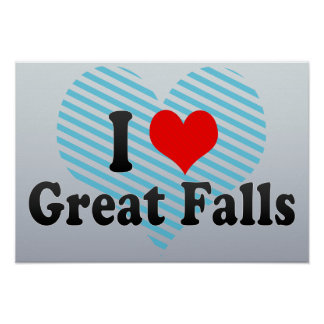 I Love Great Falls, United States Poster